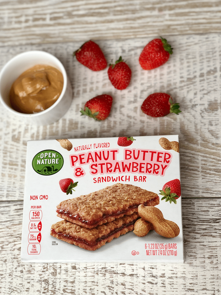 open_nature_Peanut_butter&Strawberry_Sandwich_bar