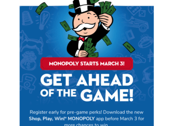 Shop, Play, & Win Monopoly Starts March 3rd – Register NOW for Prizes