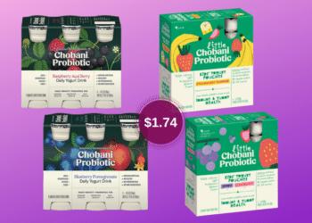 Chobani Probiotic Drinks and Little Chobani Probiotic Yogurt Pouches Just $1.74 at Safeway