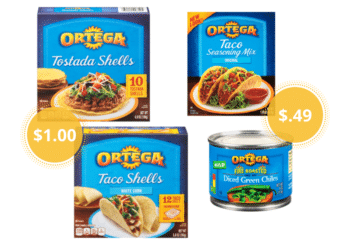 Ortega Taco Mix and Chiles Just 49¢ or Pay Just $1.00 for Taco Shells, Tostadas at Safeway
