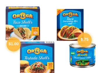 Ortega Taco Mix and Chiles Just 75¢ or Pay Just $1.00 for Taco Shells, Tostadas at Safeway