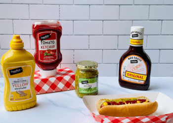 $.88 Signature SELECT BBQ Sauce, Ketchup, Mustard & Relish at Safeway