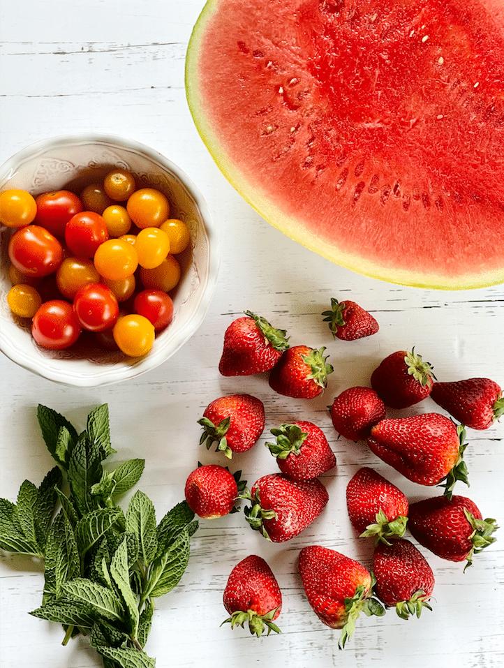 ingredients_Strawberry_Watermelon_Salad