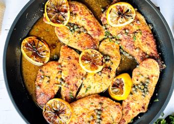 Keto Chicken Piccata With Lemon Wine Caper Sauce