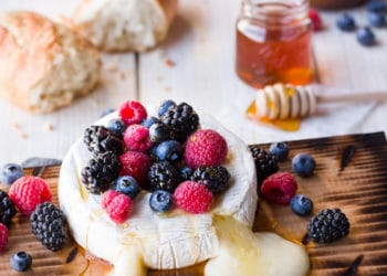 Grilled Brie With Berries & Honey