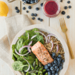 Blueberry and Salmon Quinoa Bowl
