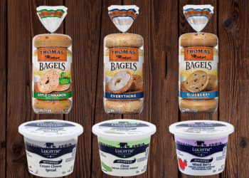 Save 50% on Thomas Bagels and Lucerne Cream Cheese Spread at Safeway