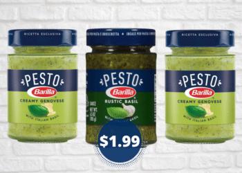 Barilla Pesto Genovese and Rustic Basil Pesto Just $1.99 at Safeway