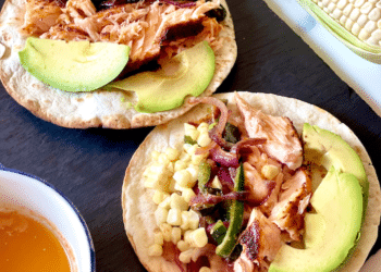 Grilled Salmon Tacos With Poblano, Corn and Chili Lime Butter