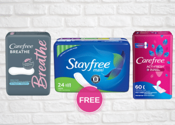 FREE Stayfree & Carefree Pads and Liners at Safeway