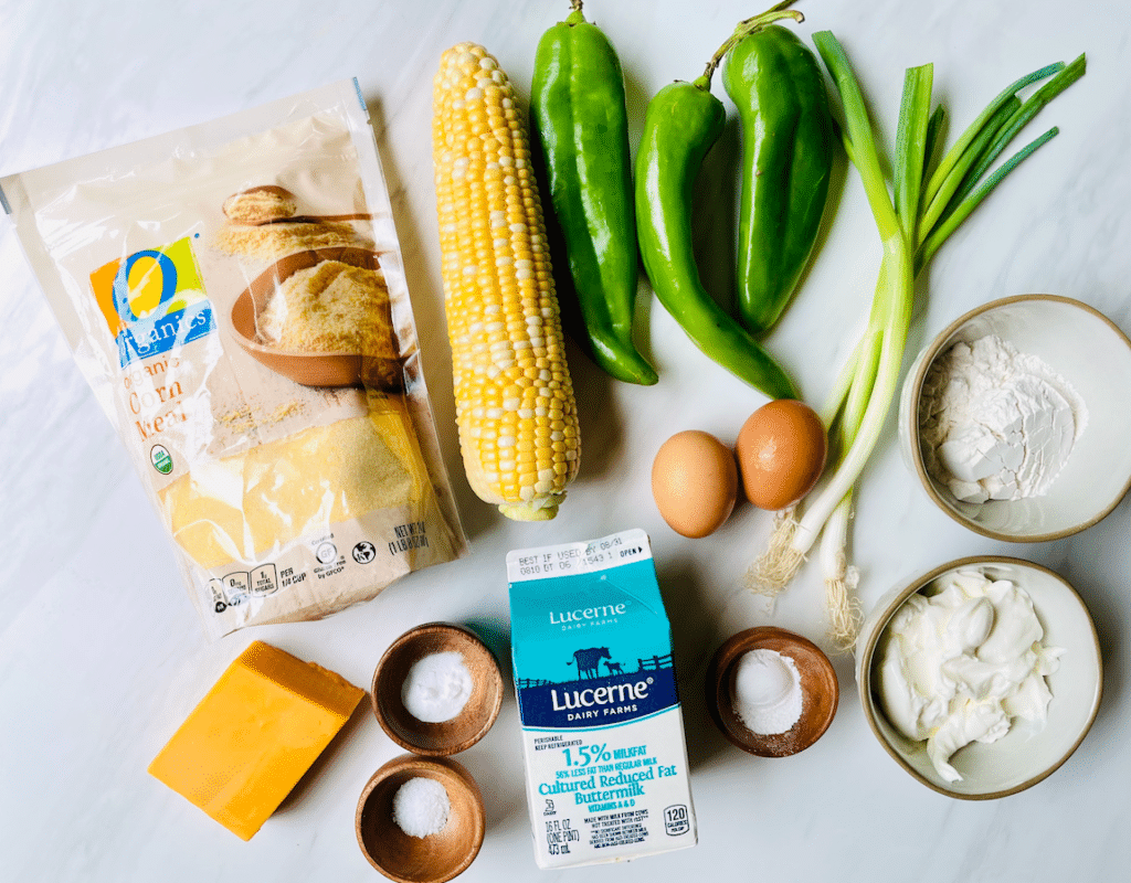 Green_Chile_Cornbread_ingredients