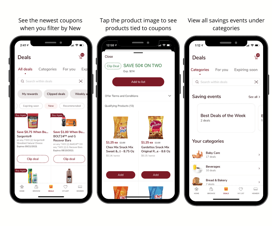 just for u coupons in new safeway app
