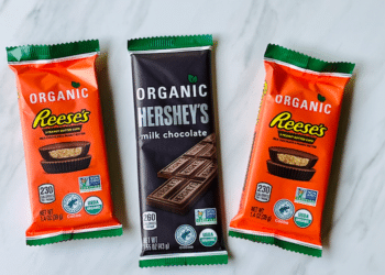 NEW Organic Reese's Peanut Butter Cups and Organic Hershey's Bars at Safeway