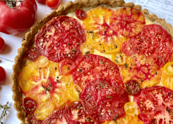 Tomato Tart With Goat Cheese and Pistachio Crust