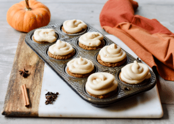 Almond Flour Pumpkin Muffins With Maple Cream Cheese Frosting