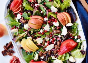 Apple Pear Pomegranate Salad With Pomegranate Dressing