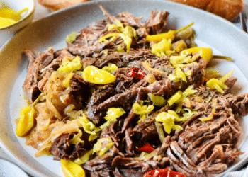 Slow Cooker Italian Beef Cross Rib Roast